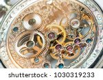 close view of a vintage... | Shutterstock . vector #1030319233