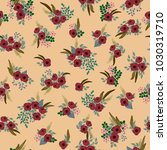 seamless folk pattern in small...   Shutterstock . vector #1030319710