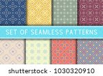 geometric seamless patterns.... | Shutterstock .eps vector #1030320910