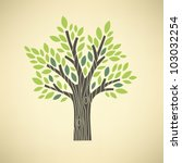 stylized vector tree | Shutterstock .eps vector #103032254