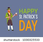 happy st. patricks day card... | Shutterstock .eps vector #1030325533