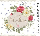 floral vector vintage invitation | Shutterstock .eps vector #1030331599