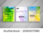 abstract business brochure... | Shutterstock .eps vector #1030337080