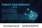 the arrows in the target from... | Shutterstock .eps vector #1030340593