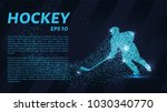 hockey from the particles. the... | Shutterstock .eps vector #1030340770