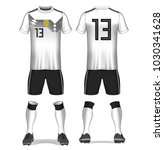 set of soccer kit or football... | Shutterstock .eps vector #1030341628