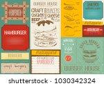fast food drawn menu design... | Shutterstock .eps vector #1030342324