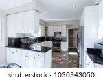 kitchen interior in luxury home | Shutterstock . vector #1030343050