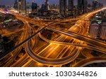 dubai highway in downtown | Shutterstock . vector #1030344826