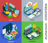 science concept icons set with... | Shutterstock .eps vector #1030345846