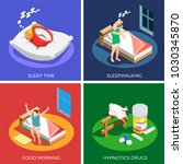 sleep time isometric design... | Shutterstock .eps vector #1030345870