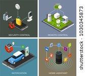 internet of things isometric... | Shutterstock .eps vector #1030345873