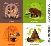 prehistoric stone age 2x2...   Shutterstock .eps vector #1030345900
