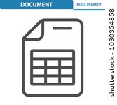 document icon. professional ...   Shutterstock .eps vector #1030354858