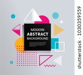 modern abstract vector square... | Shutterstock .eps vector #1030359559