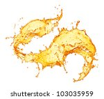 orange juice splash | Shutterstock . vector #103035959