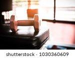 dumbbell fitness room   copy... | Shutterstock . vector #1030360609