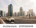 dubai city taxi | Shutterstock . vector #1030360648