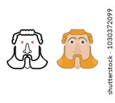 bearded man face  male... | Shutterstock .eps vector #1030372099