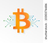 bitcoin. cryptocurrency sign.... | Shutterstock .eps vector #1030376686