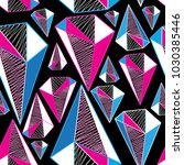 seamless geometric pattern from ... | Shutterstock .eps vector #1030385446