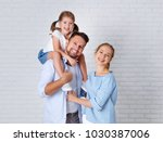 happy family mother father and... | Shutterstock . vector #1030387006
