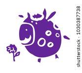 stylized cow. cute shape | Shutterstock .eps vector #1030387738
