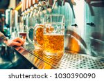 we meet oktoberfest. hand of... | Shutterstock . vector #1030390090