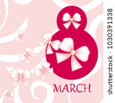 greeting card for march 8.... | Shutterstock .eps vector #1030391338