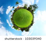 Spherical Panorama Of A Green...