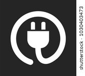 power cord icon | Shutterstock .eps vector #1030403473