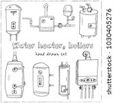 water heater  boilers hand... | Shutterstock .eps vector #1030405276