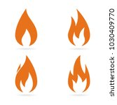 fire flames icons set. vector | Shutterstock .eps vector #1030409770