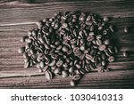 coffee beans on the table... | Shutterstock . vector #1030410313