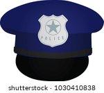 police hat. vector illustration