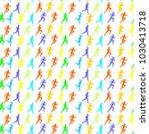man   woman running. set of... | Shutterstock .eps vector #1030413718