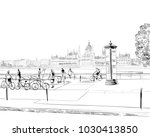 building of the hungarian... | Shutterstock .eps vector #1030413850
