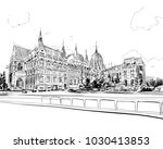 building of the hungarian... | Shutterstock .eps vector #1030413853