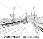 the bridge of freedom. budapest.... | Shutterstock .eps vector #1030413859