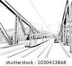 the bridge of freedom. budapest.... | Shutterstock .eps vector #1030413868