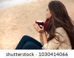 beautiful brunette woman... | Shutterstock . vector #1030414066
