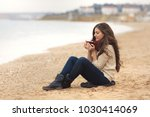 beautiful brunette woman... | Shutterstock . vector #1030414069