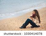 beautiful brunette woman...   Shutterstock . vector #1030414078