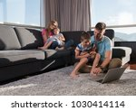 happy family. father  mother... | Shutterstock . vector #1030414114