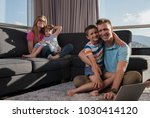 happy family. father  mother... | Shutterstock . vector #1030414120