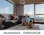 happy family. father  mother... | Shutterstock . vector #1030414126