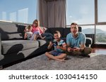 happy family. father  mother... | Shutterstock . vector #1030414150