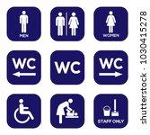 wc toilet sign door plate icon... | Shutterstock .eps vector #1030415278
