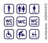 wc toilet sign door plate icon... | Shutterstock .eps vector #1030415473