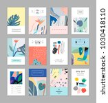 collection of creative... | Shutterstock .eps vector #1030418110